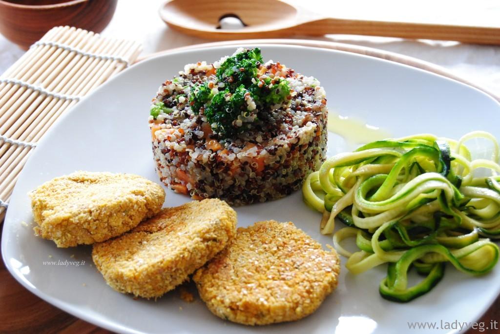 quinoa e vegan burger