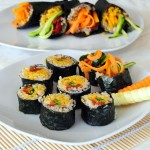 Vegan sushi: Temaki and Maki rolls