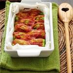 Fiori di zucca vegan al forno / Vegan zucchini blossoms