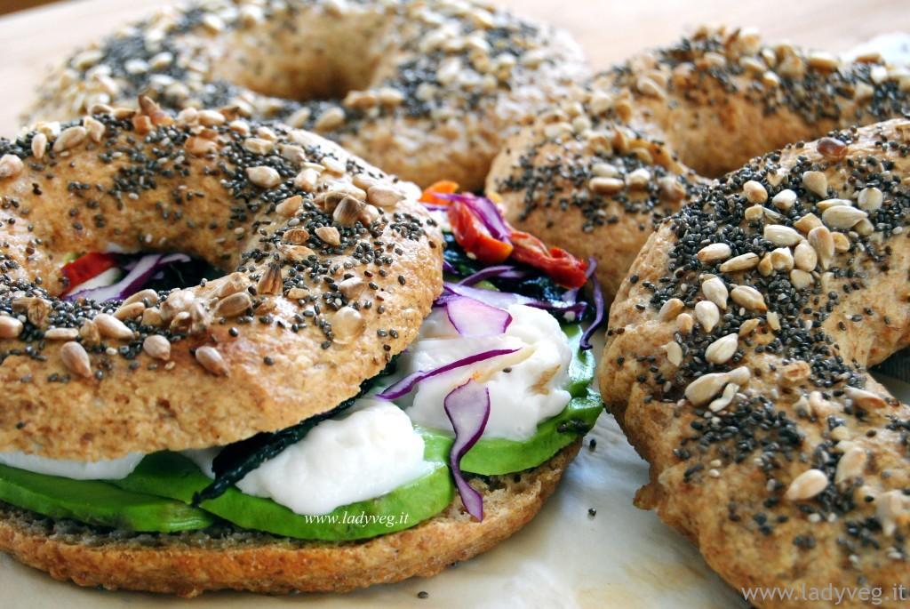 bagels vegani integrali