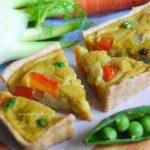 Vegan mini quiche al curry / Vegan mini quiche with curry cream