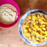 torta farcita vegan con mango e limone