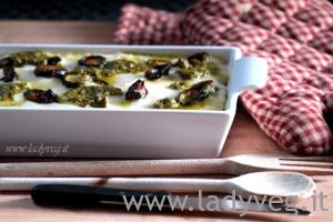 lasagne vegan senza glutine al pesto