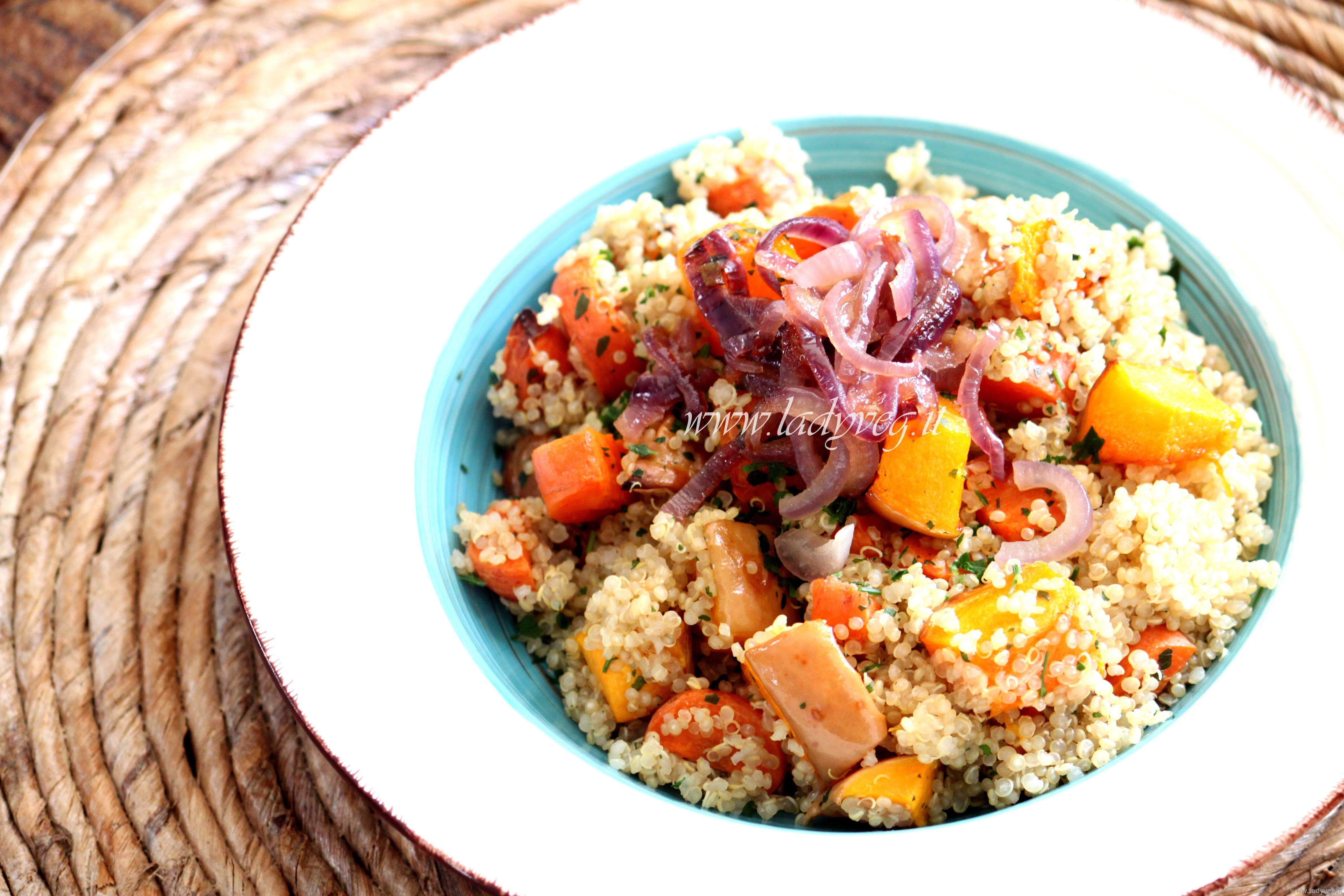 Ricette con quinoa quinoa con verdure e sformatino ladyveg for Ricette con verdure