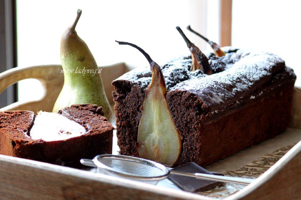 plumcake vegan pere e cacao