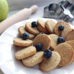 Biscotti vegan con farina di ceci | frolla friabile, integrale e senza zucchero