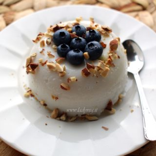 budino di riso vegan senza glutine