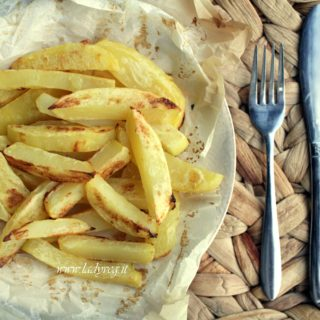 Patate al forno croccanti senza olio nè burro