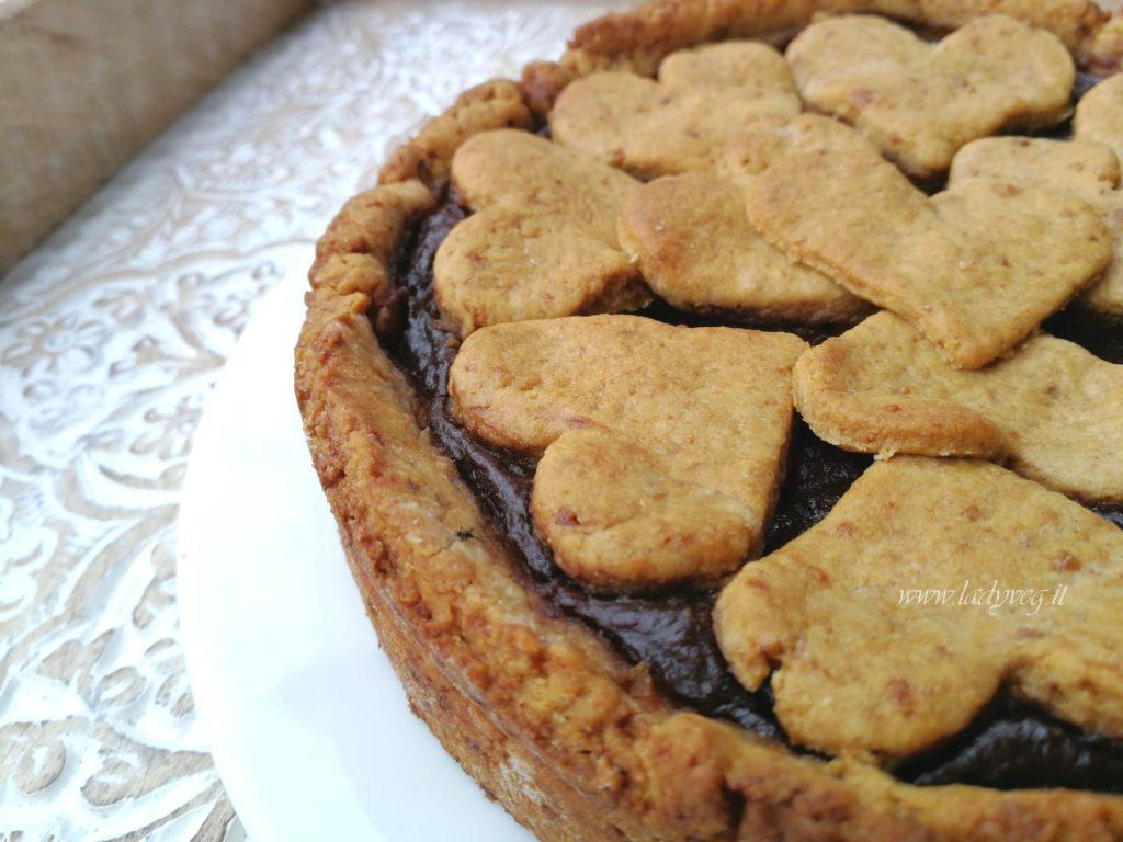 crostata vegana di batata al cacao