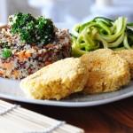 Quinoa e vegan burger / Quinoa and veggie burger