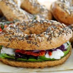 Bagels vegani integrali / Whole wheat vegan bagels