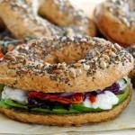 Bagels vegani integrali / Whole wheat vegan bagels