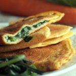 Omelette senza uova: ricetta vegana con besciamella vegetale e spinaci