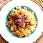 Ricette con quinoa: quinoa con verdure e sformatino