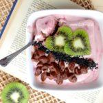 Tiramisù light vegan | con crema di nocciole al cacao e lamponi