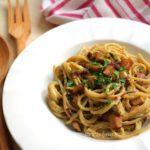 Carbonara vegana | Ricetta facile e veloce per un primo gustoso