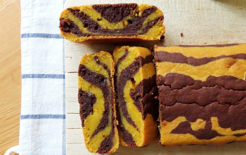 torta bicolore vegana