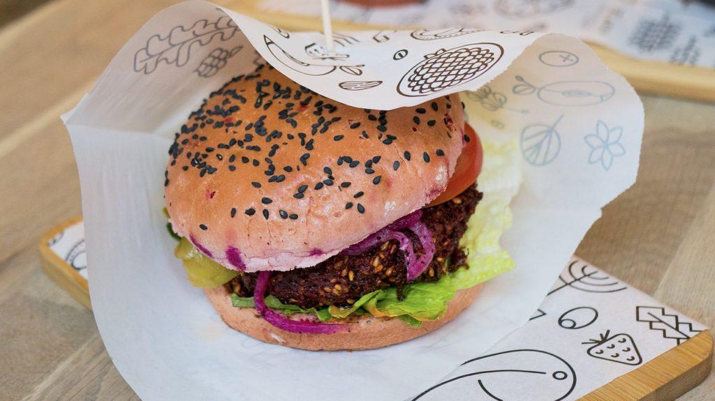 burger vegano cibo da asporto