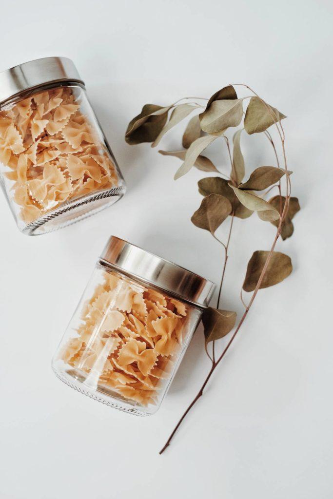 Spesa senza plastica: barattoli pasta