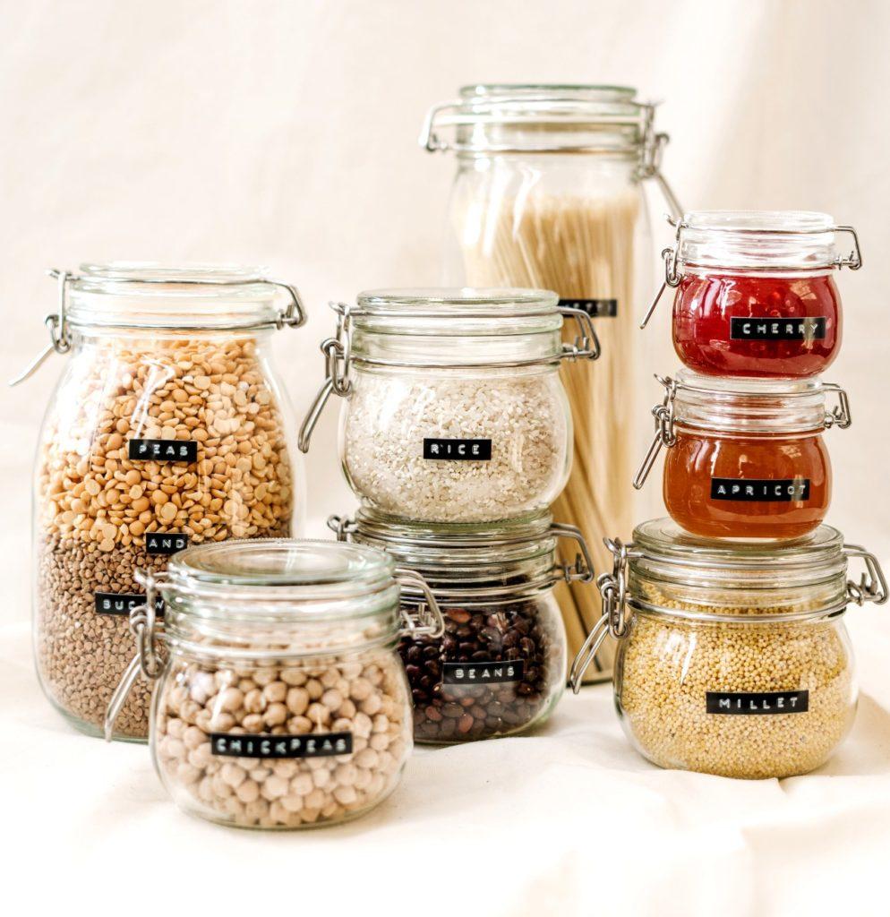 contenitori in vetro per cibo sfuso